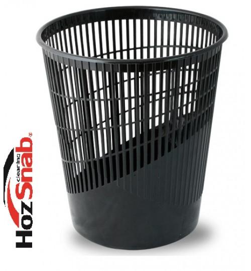 Корзина для мусора пластиковая, черная 11 л. 1/2