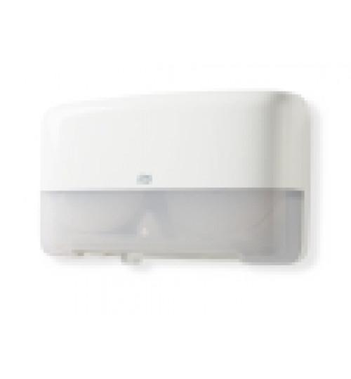 555500 Tork двойной диспенсер для туалетной бумаги в мини-рулонах белый T2