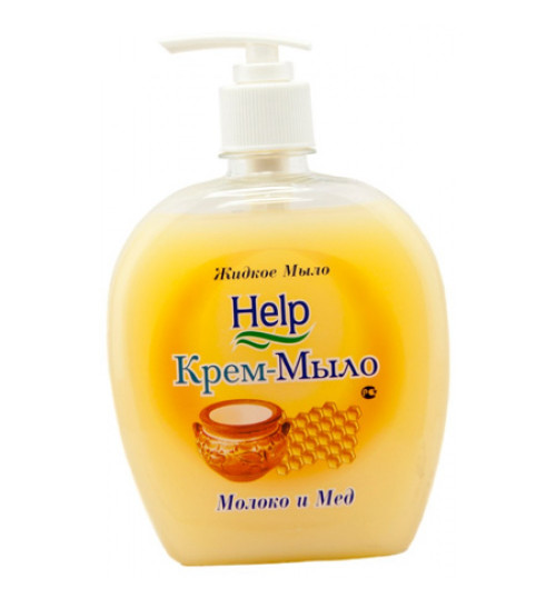 Крем-мыло HELP Молоко и мед с дозатором 500 мл. 1/12