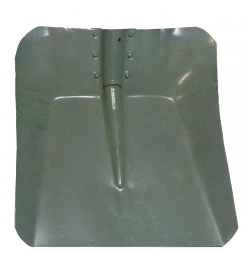Лопата снегоуборочная 360х380 мм стальная (метал) s=0.8 мм, без планки, d=40