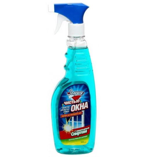 Моющее средство для стекла c распылителем Золушка с нашат.спиртом Чистые окна 500 мл. 1/12