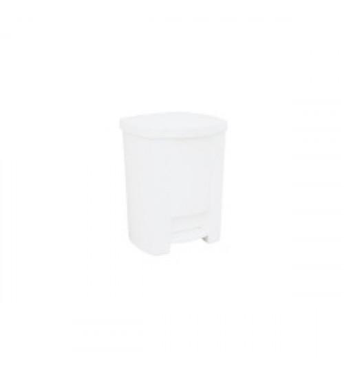 Корзина пластиковая белая с педалью 7,5 л B 401