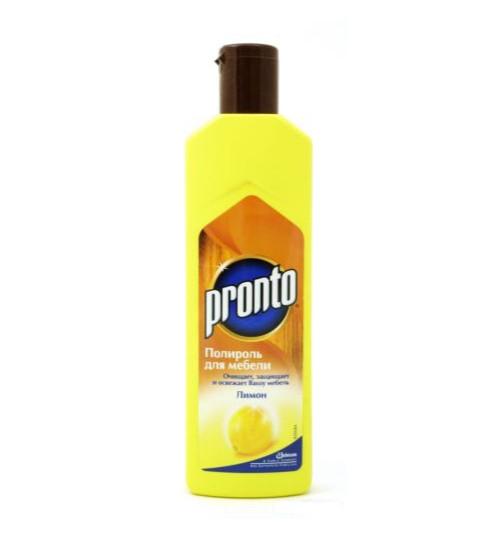 Полироль - крем для мебели Пронто Лимон 300 гр. 1/12