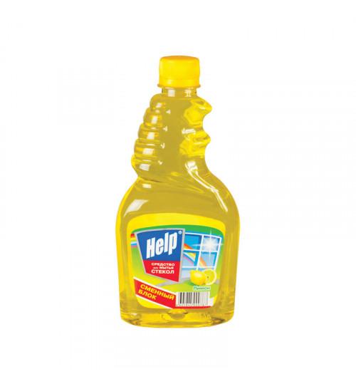 Моющее средство для стекла без распылителя HELP 500 мл. (а) 1/12