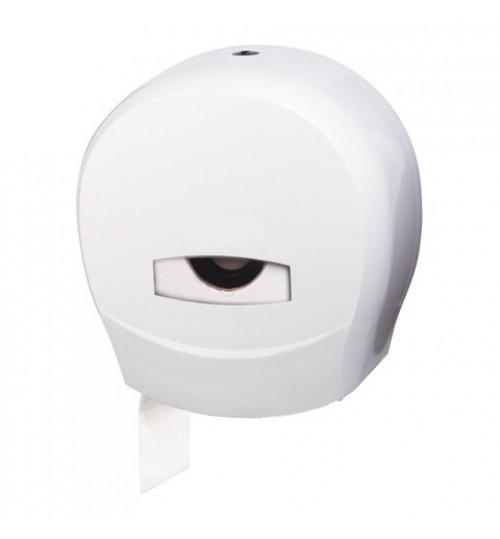 Диспенсер для туалетной бумаги 200 м., белый, пластиковый 1/16