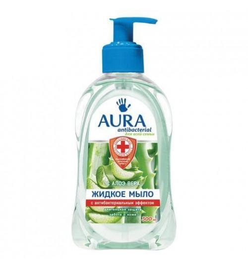 Жидкое крем-мыло AURA антибактериальное