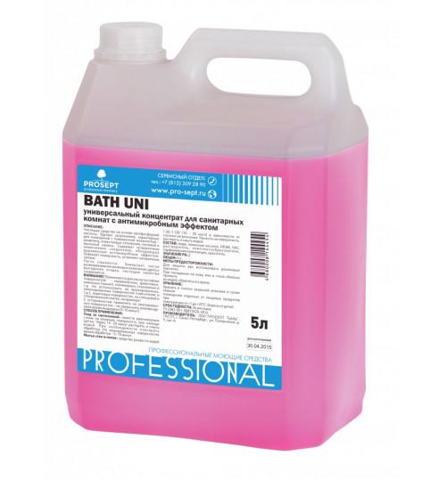 Универсальный спрей для чистки сантехники от известкового и мыльного налета PROSEPT Bath Uni 5 л.