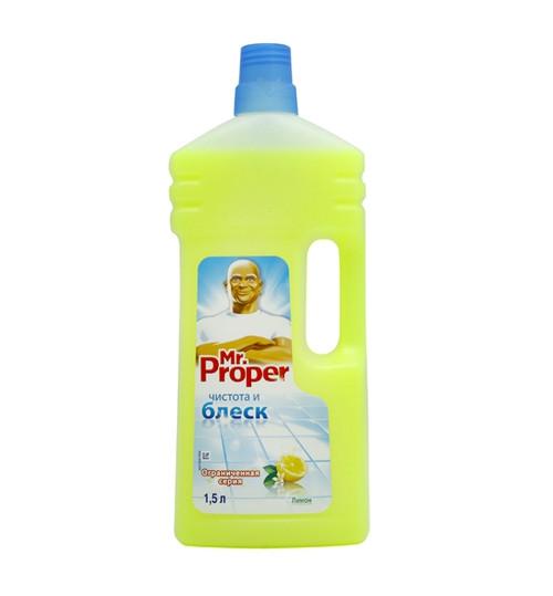 Моющее средство полов и стен Мистер Пропер Универсал Лимон (Mr. Proper) 1.5 л. (а) 1/2/9