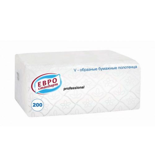 Бумажные полотенца Евростандарт Professional V-cложения 1-сл. 200 л. 1/18
