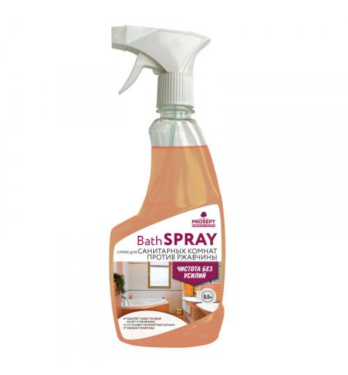 Универсальное средство для удаления ржавчины и известковых отложений PROSEPT Bath Spray 500 мл. 1/12