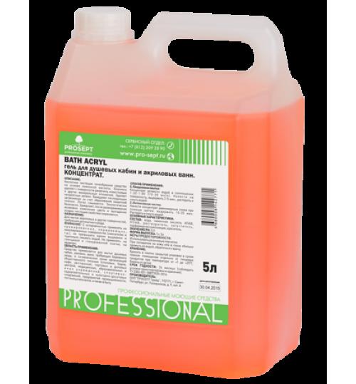 Средство для чистки акриловых поверхностей и душевых кабин PROSEPT Bath Acryl 5 л. 1/4
