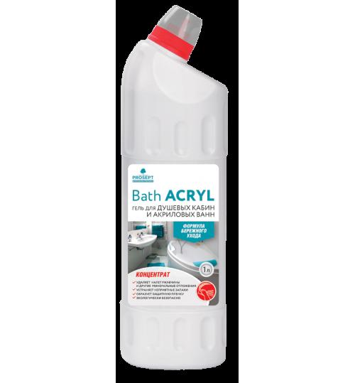 Средство для чистки акриловых поверхностей и душевых кабин PROSEPT Bath Acryl 1 л. 1/12