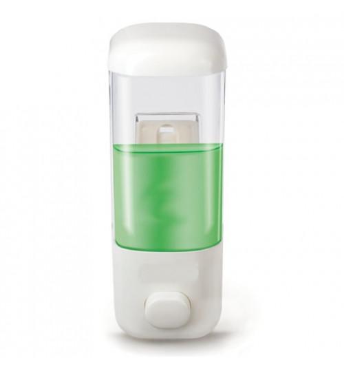 Диспенсер для жидкого мыла наливной, пластиковый, белый 500 мл. SS 109