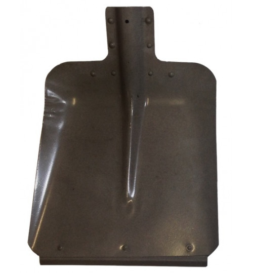Лопата снегоуборочная 320х350 мм ЛС №7 стальная (метал) s=0,8мм, с планкой, d=40