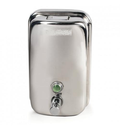 Диспенсер для жидкого мыла наливной, нержавеющая сталь, зеркальный 1000 мл. SS 113