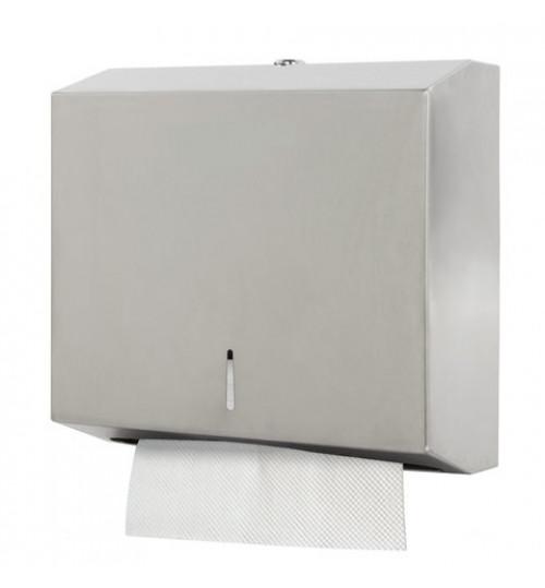 Диспенсер для бумажных полотенец Z-сложения, нержавеющая сталь, матовый (120-200 листов) 1/1