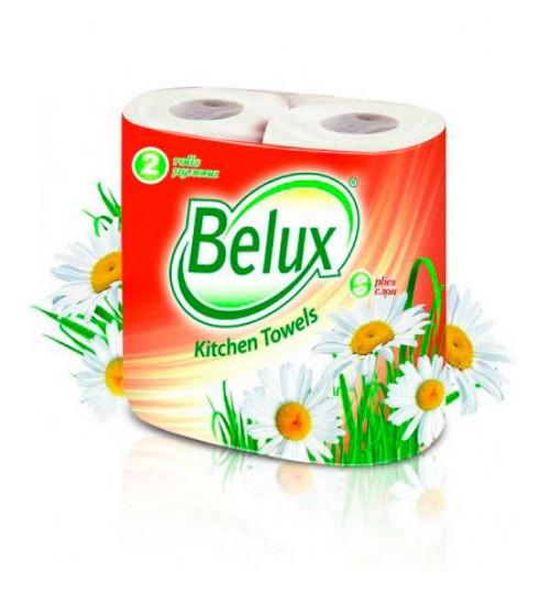 Полотенца бумажные Belux  2-сл. 2 рул/уп. белые 1/12