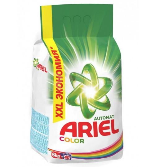 Стиральный порошок Ариэль автомат для цветного белья Колор 6 кг. 1/1