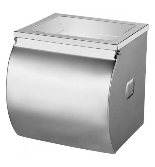 Диспенсер для туалетной бумаги в стандартных рулонах, нержавеющая сталь, зеркальный 1/1