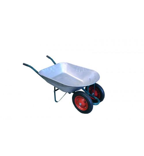 Тачка садовая 65 л./130 кг оцинк. 2-колесная 360 мм