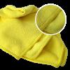Салфетка микрофибра 40х40 см. желтая 280g/pc