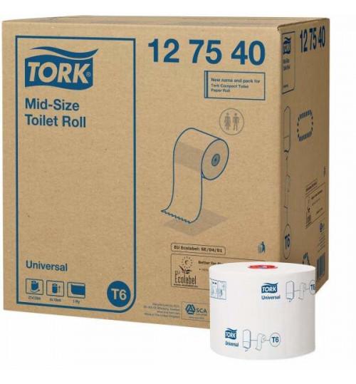 127540 Tork туалетная бумага Mid-size в миди рулонах T6
