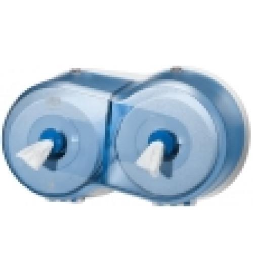 472027 Tork Smart One двойной диспенсер для туалетной бумаги в мини рулонах синий T9