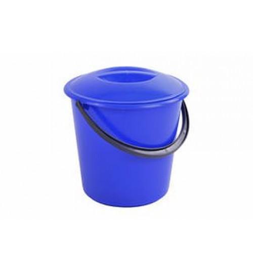 Ведро пластмассовое 12 л. круглое с крышкой