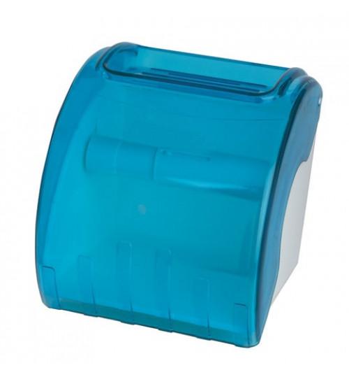 Диспенсер для туалетной бумаги для стандартных рулонов, тонированный голубой 1/1