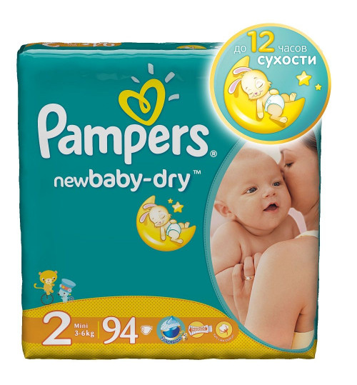 Pampers New Baby Mini (3-6 кг) 94шт 1/2