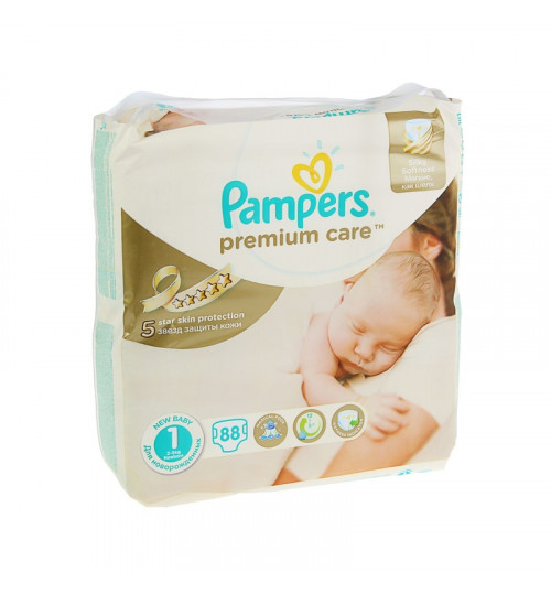 Pampers Premium Care Newborn (2-5кг) 88шт 1/2
