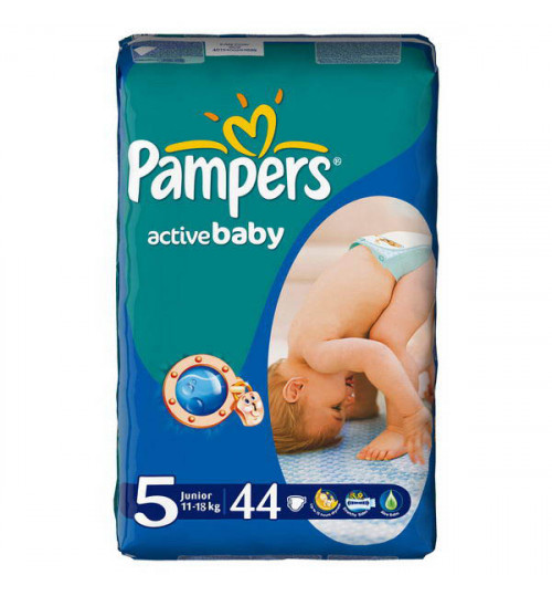 Pampers Active Baby юниор 44шт(11-18кг) 1/2