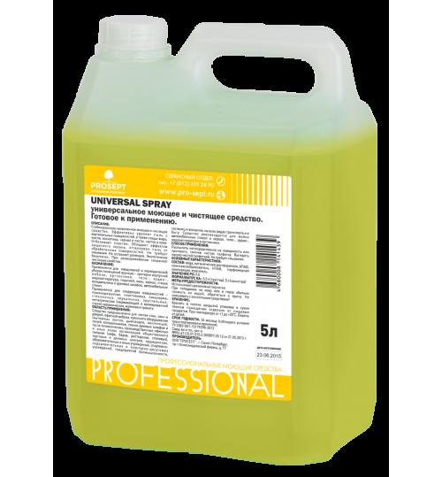 Универсальное моющее и чистящее средство с антистатич. эффектом PROSEPT Universal Spray 5 л.