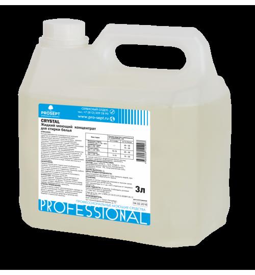 Жидкий моющий концентрат для стирки белья PROSEPT Crystal  3 л. 1/4