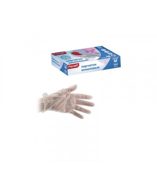 Перчатки виниловые Paclan неопудр. размер M (100 шт.=50 пар/уп)