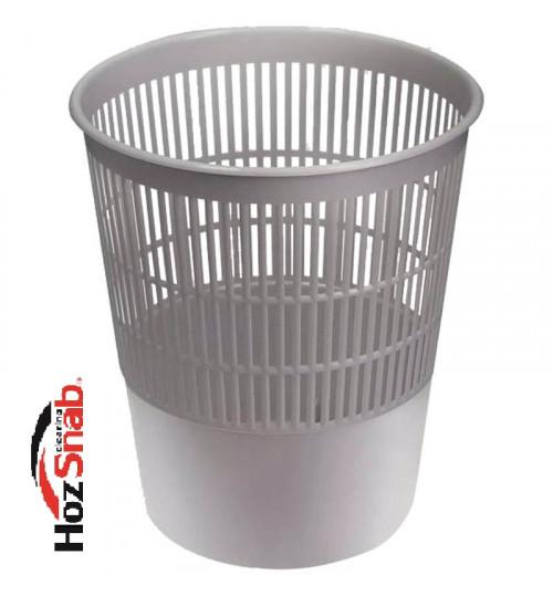 Корзина для мусора пластиковая, серая 11 л. 1/2