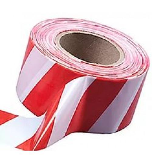 Лента для ограждений 200*50 (бело-красная)