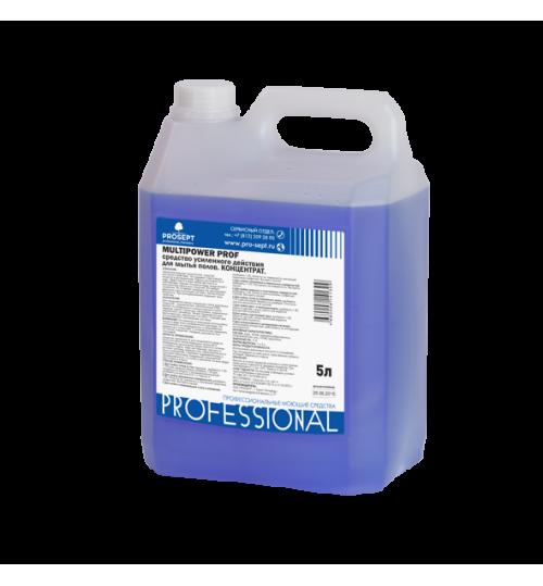 Средство усиленного действия для мытья напольных покрытий PROSEPT Multipower Prof 5 л.
