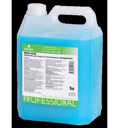Чистящее средство для удаления ржавчины и минеральных отложений PROSEPT Bath Acid 5 л. 1/4
