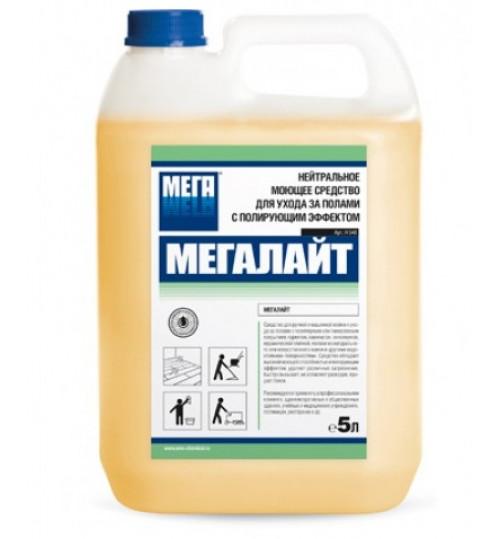 Мегалайт - Нейтральное моющее средство для ухода за полами с полирующим эффектом 5 л.