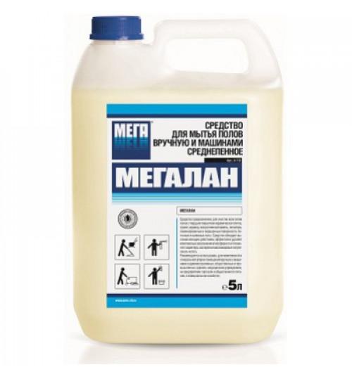 Мегалан - средство для машинной и ручной мойки твердых полов (плитка, линолеум, наливные полы) 5 л.