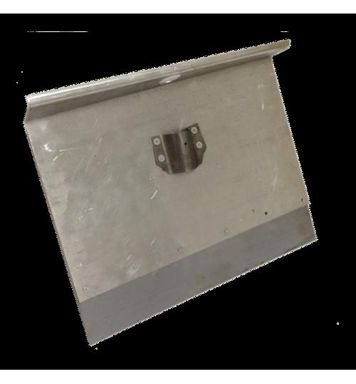Движок однобортный 500х375 мм алюминиевый с накладкой 12 см.