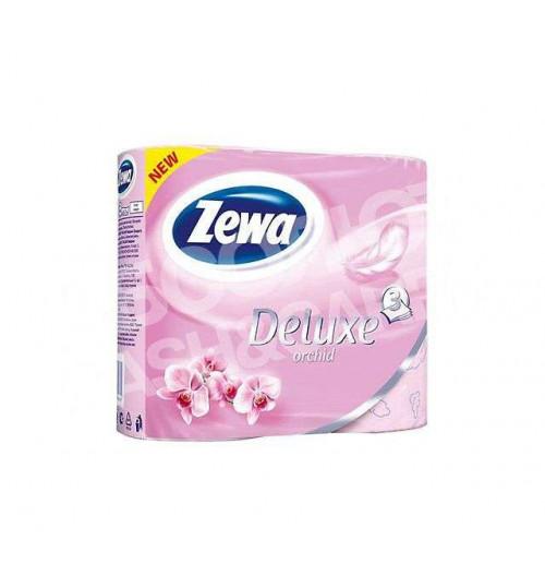 Туалетная бумага Zewa Deluxe 3х-сл. Орхидея 4 рул./уп.  1/14