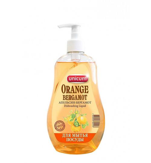 UNICUM Средство для мытья посуды Апельсин-бергамот с дозатором 550 мл. 1/10