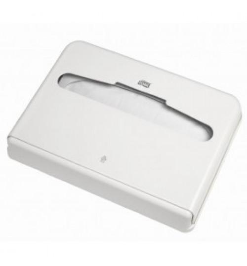 344080 Tork диспенсер для бумажных покрытий на унитаз белый V1