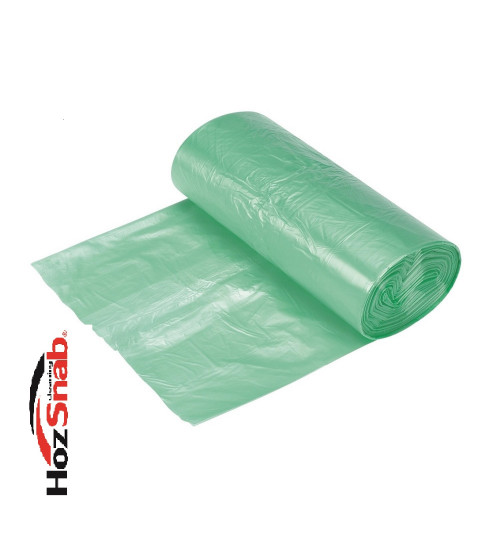 Мешки для мусора 120 л. Биоразлагаемые, зеленые 70х110 см.10шт./рул. ПНД (17мкр.) 1/25