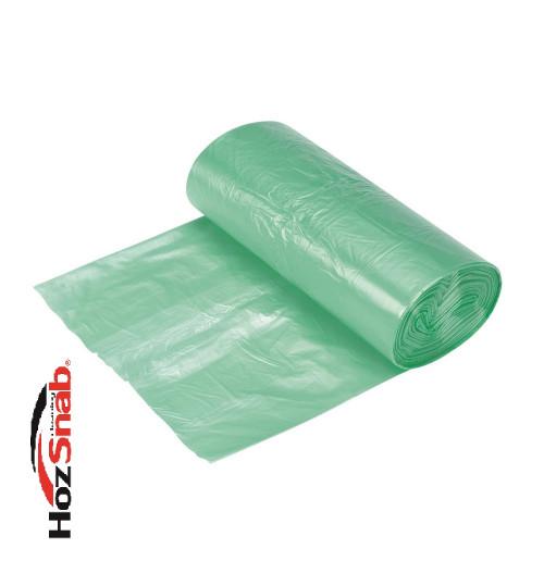 Мешки для мусора 30 л. Биоразлагаемые, зеленые 50х60 см.20шт./рул. ПНД (10мкр.) 1/60
