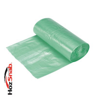 Мешки для мусора 60 л. Биоразлагаемые, зеленые 60х70 см.20шт./рул. ПНД (15мкр.) 1/50