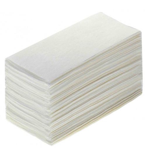 Полотенца бумажные листовые Терес Стандарт V-сложения (ZZ) 1-сл. 250 л. 25гр. 23*21 белые Т0225 1/20