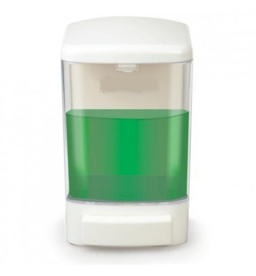 Диспенсер для жидкого мыла наливной, пластиковый, белый 1000 мл. SS 110